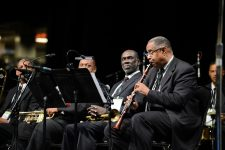 From 2013, Dr. Michael White (clarinet) leads his Original Liberty Jazz Band. To his left, with a trumpet, is fellow Fairview Baptist Church band alumnus Gregg Stafford.