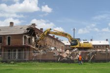 The demolition of the Lafitte projects in 2008.