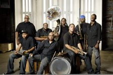 The Soul Rebels in 2012. Leader Lumar LeBlanc is standing at the far left.