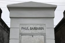 The final resting place of Paul Barbarin (1899-1969), Danny Barker (1909-1994), and Louisa