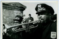 Trumpeter Milton Batiste of the Olympia Brass Band, seen here in the late 60s, was in the first music class at Clark High School when it opened in 1948.