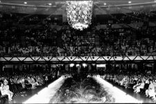 View down the runway at a Carnival ball in the Municipal Auditorium ca. 1933.
