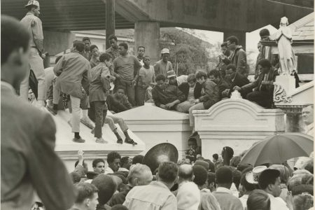 Paul Barbarin's funeral in St. Louis Cemetery No. 2 in 1969. Barbarin died while playing in a parade on Mardi Gras Day.