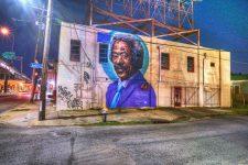 Mural of Allen Toussaint on North Claiborne Avenue in 2019.