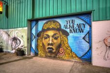 Mural of Big Freedia by Sasha Kopfler pictured in 2019.