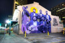 Mural of Buddy Bolden and band painted in 2018 by Brandan