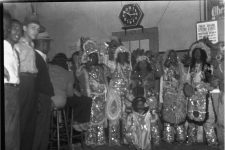 Mardi Gras Indians in the Gypsy Tea room on St. Joseph's Night, 1940.