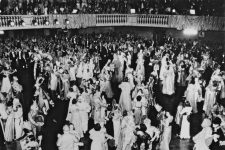 A Mardi Gras ball in the 1930s in the Municipal Auditorium.