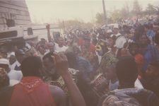 Mardi Gras Indians in Armstrong Park, where the Municipal Auditorium abuts Congo Square, circa 1992.
