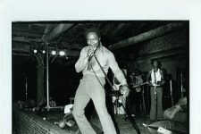 Ernie K-Doe performs at the Warehouse on April 22, 1974 as part of a benefit concert for Professor Longhair, whose home had been destroyed by fire.