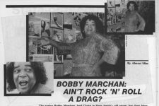 Bobby Marchan in Wavelength magazine from 1981.